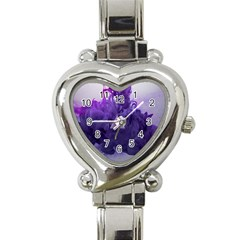 Smoke Triangle Lilac  Heart Italian Charm Watch by amphoto