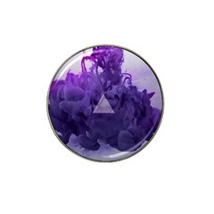 Smoke Triangle Lilac  Hat Clip Ball Marker by amphoto