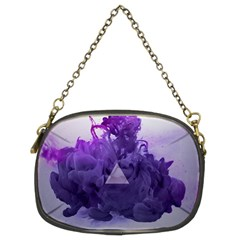 Smoke Triangle Lilac  Chain Purses (two Sides)  by amphoto
