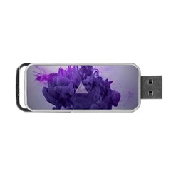 Smoke Triangle Lilac  Portable Usb Flash (two Sides) by amphoto