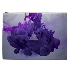 Smoke Triangle Lilac  Cosmetic Bag (xxl)  by amphoto