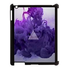 Smoke Triangle Lilac  Apple Ipad 3/4 Case (black) by amphoto