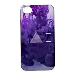 Smoke Triangle Lilac  Apple Iphone 4/4s Hardshell Case With Stand by amphoto