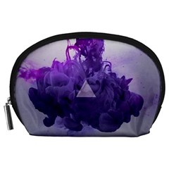 Smoke Triangle Lilac  Accessory Pouches (large)  by amphoto