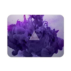 Smoke Triangle Lilac  Double Sided Flano Blanket (mini)  by amphoto