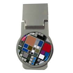 Abstract Composition Money Clips (round)  by Nexatart