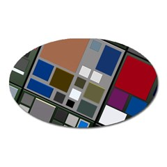 Abstract Composition Oval Magnet by Nexatart