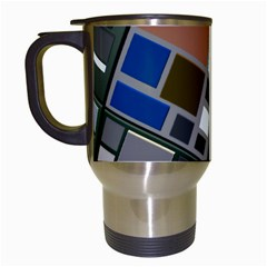 Abstract Composition Travel Mugs (white) by Nexatart