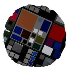 Abstract Composition Large 18  Premium Flano Round Cushions by Nexatart