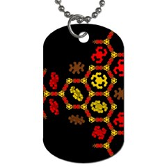 Algorithmic Drawings Dog Tag (two Sides)