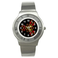 Algorithmic Drawings Stainless Steel Watch by Nexatart
