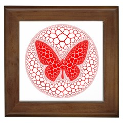 Butterfly Framed Tiles by Nexatart