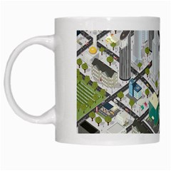 Simple Map Of The City White Mugs by Nexatart