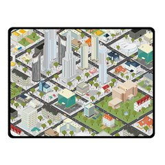Simple Map Of The City Fleece Blanket (small) by Nexatart