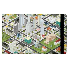 Simple Map Of The City Apple Ipad 2 Flip Case