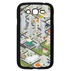 Simple Map Of The City Samsung Galaxy Grand Duos I9082 Case (black) by Nexatart