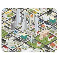 Simple Map Of The City Double Sided Flano Blanket (medium)  by Nexatart