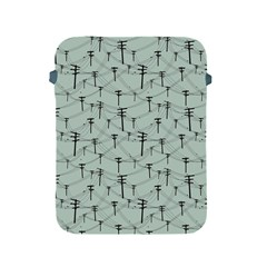 Telephone Lines Repeating Pattern Apple Ipad 2/3/4 Protective Soft Cases by Nexatart