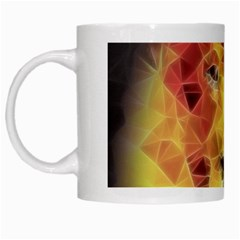 Fractal Lion White Mugs by Nexatart