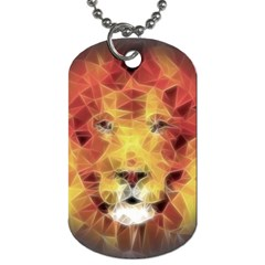 Fractal Lion Dog Tag (two Sides) by Nexatart