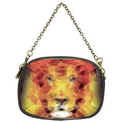 Fractal Lion Chain Purses (two Sides)  by Nexatart