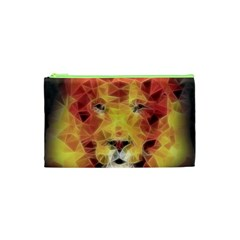 Fractal Lion Cosmetic Bag (xs) by Nexatart
