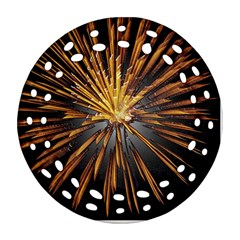 Pyrotechnics Thirty Eight Round Filigree Ornament (two Sides) by Nexatart