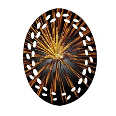 Pyrotechnics Thirty Eight Oval Filigree Ornament (two Sides) by Nexatart