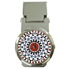 Mandala Art Ornament Pattern Money Clip Watches by Nexatart
