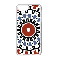 Mandala Art Ornament Pattern Apple Iphone 7 Plus White Seamless Case by Nexatart