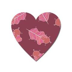Plumelet Pen Ethnic Elegant Hippie Heart Magnet by Nexatart