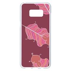 Plumelet Pen Ethnic Elegant Hippie Samsung Galaxy S8 Plus White Seamless Case by Nexatart