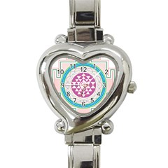 Mandala Design Arts Indian Heart Italian Charm Watch by Nexatart