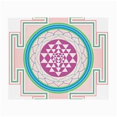 Mandala Design Arts Indian Small Glasses Cloth (2 Side) by Nexatart
