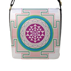 Mandala Design Arts Indian Flap Messenger Bag (l)  by Nexatart