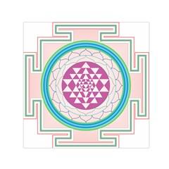 Mandala Design Arts Indian Small Satin Scarf (square) by Nexatart