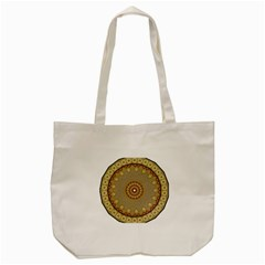 Mandala Art Ornament Pattern Tote Bag (cream) by Nexatart