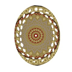 Mandala Art Ornament Pattern Oval Filigree Ornament (two Sides) by Nexatart