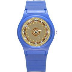 Mandala Art Ornament Pattern Round Plastic Sport Watch (s) by Nexatart