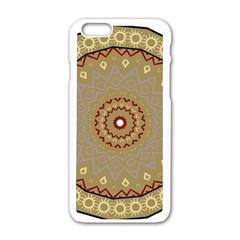Mandala Art Ornament Pattern Apple Iphone 6/6s White Enamel Case by Nexatart