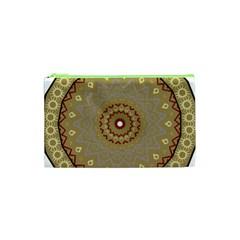 Mandala Art Ornament Pattern Cosmetic Bag (xs) by Nexatart