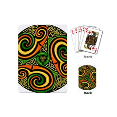 Celtic Celts Circle Color Colors Playing Cards (mini)  by Nexatart