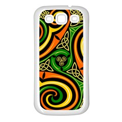 Celtic Celts Circle Color Colors Samsung Galaxy S3 Back Case (white) by Nexatart