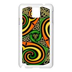 Celtic Celts Circle Color Colors Samsung Galaxy Note 3 N9005 Case (white) by Nexatart