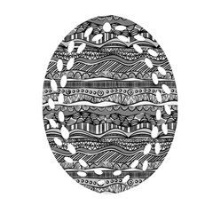 Ethno Seamless Pattern Oval Filigree Ornament (two Sides) by Nexatart