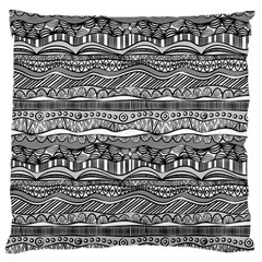 Ethno Seamless Pattern Large Flano Cushion Case (two Sides) by Nexatart