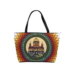 Building Mandala Palace Shoulder Handbags by Nexatart