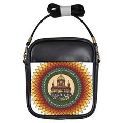 Building Mandala Palace Girls Sling Bags by Nexatart