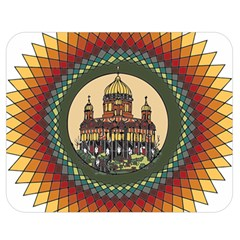 Building Mandala Palace Double Sided Flano Blanket (medium)  by Nexatart