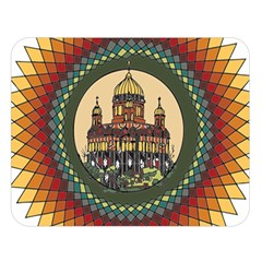 Building Mandala Palace Double Sided Flano Blanket (large)  by Nexatart